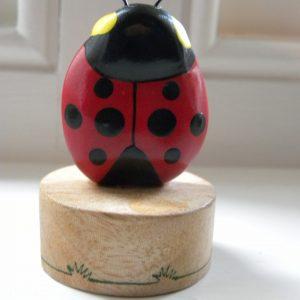 Handcrafted Wooden Ladybird Pencil Sharpener