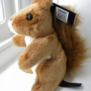 Small Plush Red Squirrel Toy Teddy - 17cm