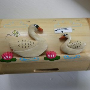 Handcrafted Wooden Swan Money Box / Treasure Chest