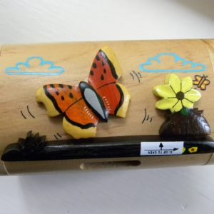 Handcrafted Wooden Butterfly Money Box / Treasure Chest