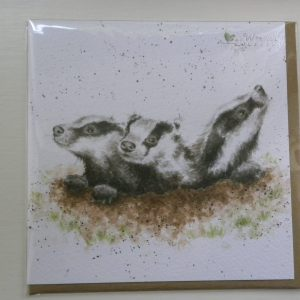 Wrendale Designs - The First Adventure - Badger Cubs - Greeting Card