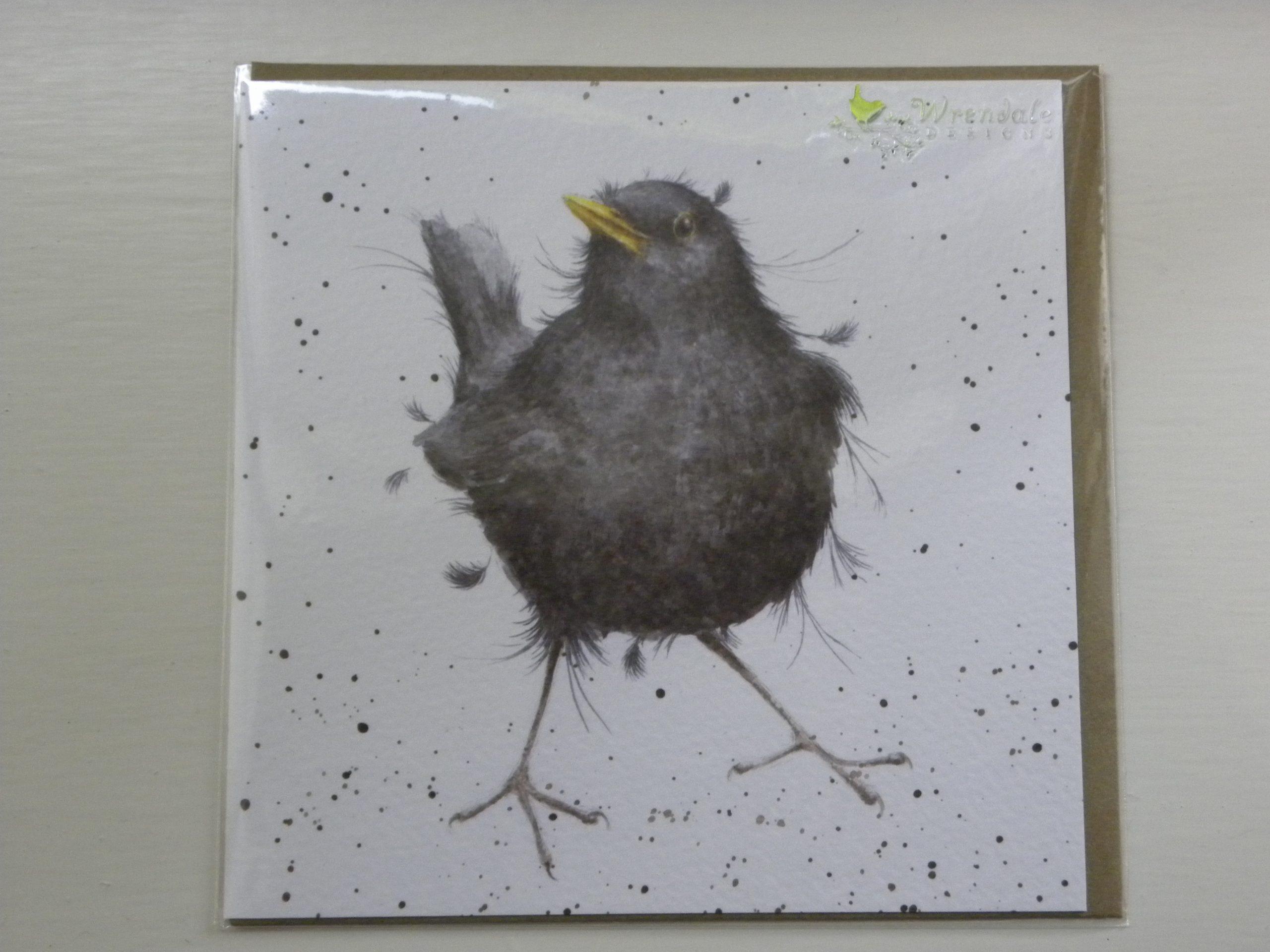 Wrendale Designs - Sing a Song - Blackbird - Greeting Card