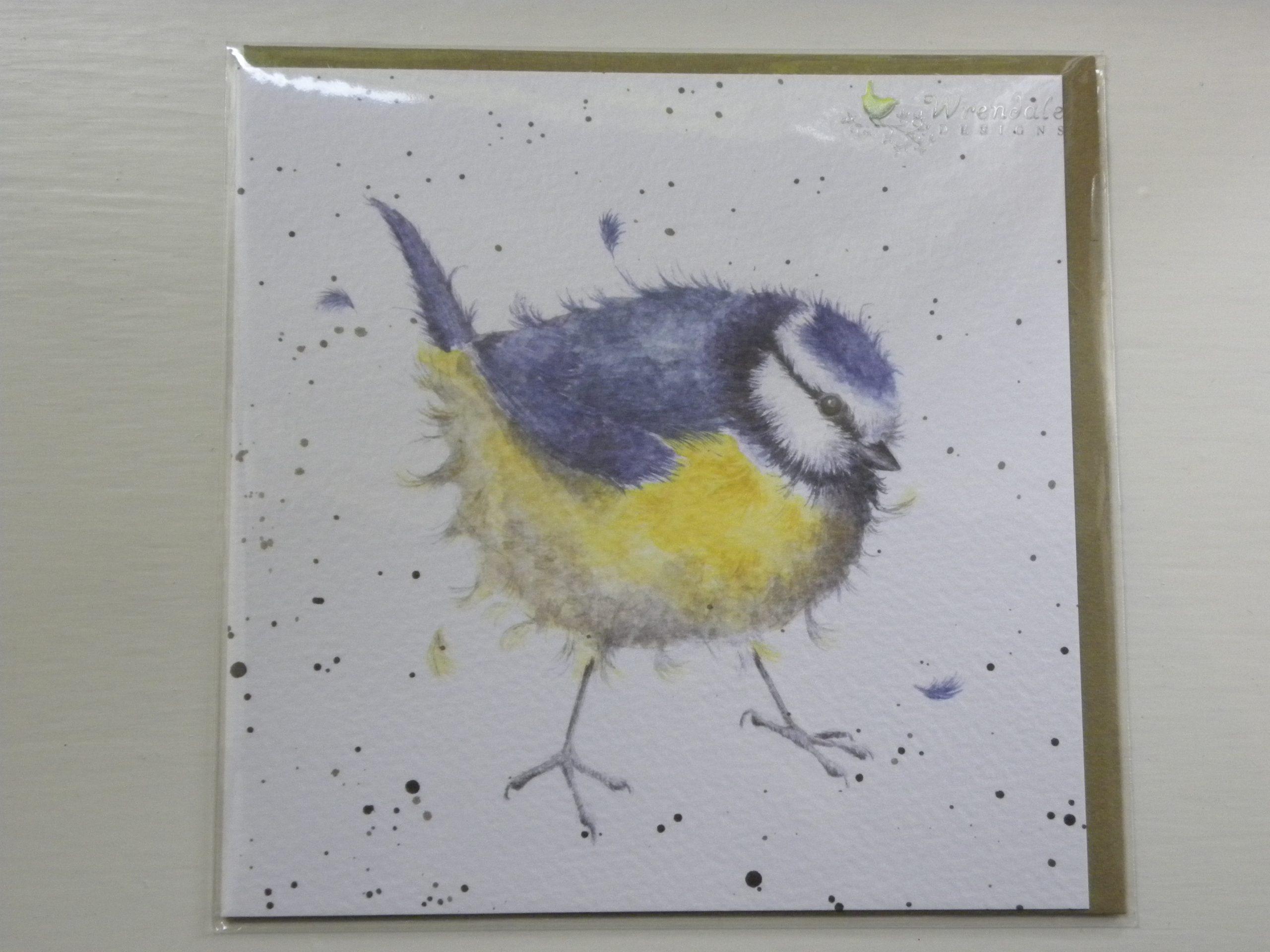 Wrendale Designs - Garden Dweller - Blue Tit - Greeting Card