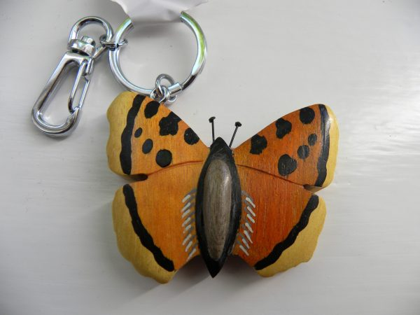 Handcrafted Wooden Butterfly Keyring