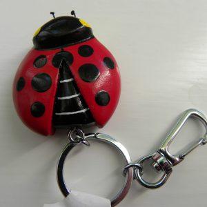 Handcrafted Wooden Ladybird Keyring