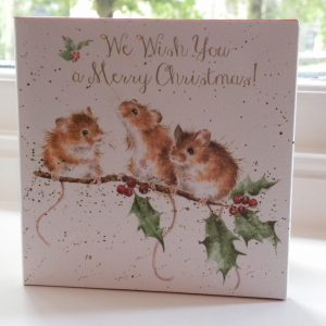 Wrendale Designs - 8 x Foiled Luxury Christmas Cards – Christmas Mice