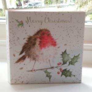 Wrendale Designs - 8 x Foiled Luxury Christmas Cards - The Jolly Robin