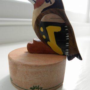 Handcrafted Wooden Goldfinch Pencil Sharpener