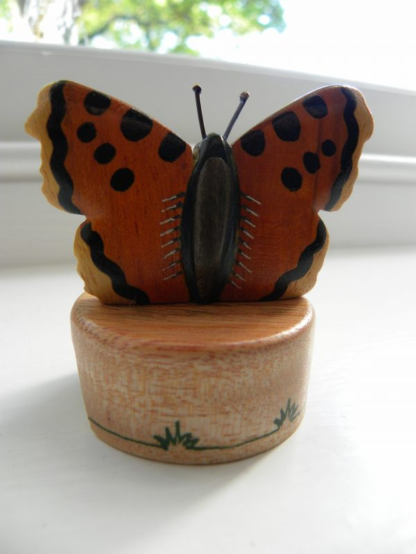 Handcrafted Wooden Butterfly Pencil Sharpener