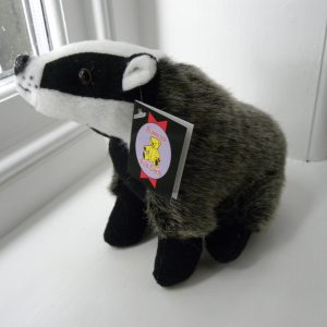 Medium Plush Sitting Badger Toy Teddy - 23cm