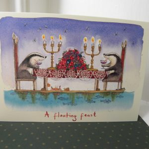 Badger Christmas Card - A Floating Feast