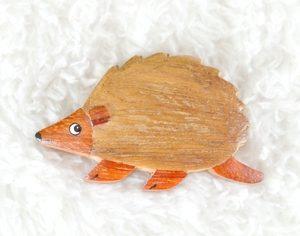 Handcrafted Wooden Hedgehog Magnet