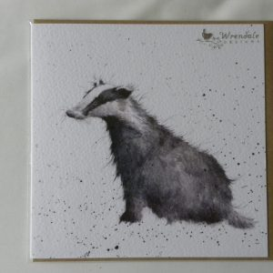Wrendale Designs - Country Gent - Badger - Greeting Card