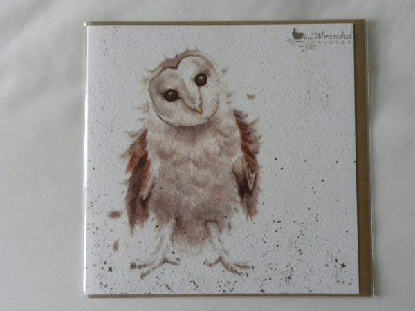 Wrendale Designs - Curiouser and Curiouser - Barn Own - Greeting Card