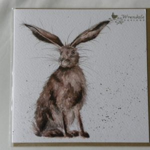 Wrendale Designs - Good Hare Day - Brown Hare - Greeting Card