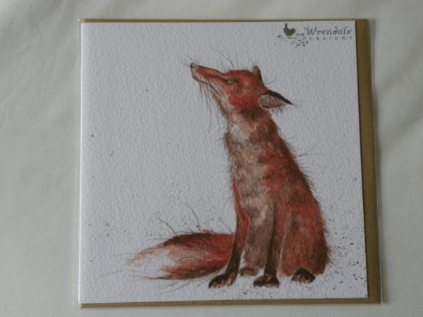 Wrendale Designs - The Artful Poacher - Red Fox Greeting Card