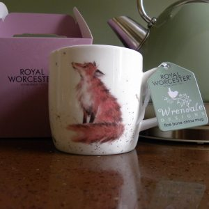 Royal Worcester - Wrendale - Bone China Mug - The Artful Poacher, Red Fox