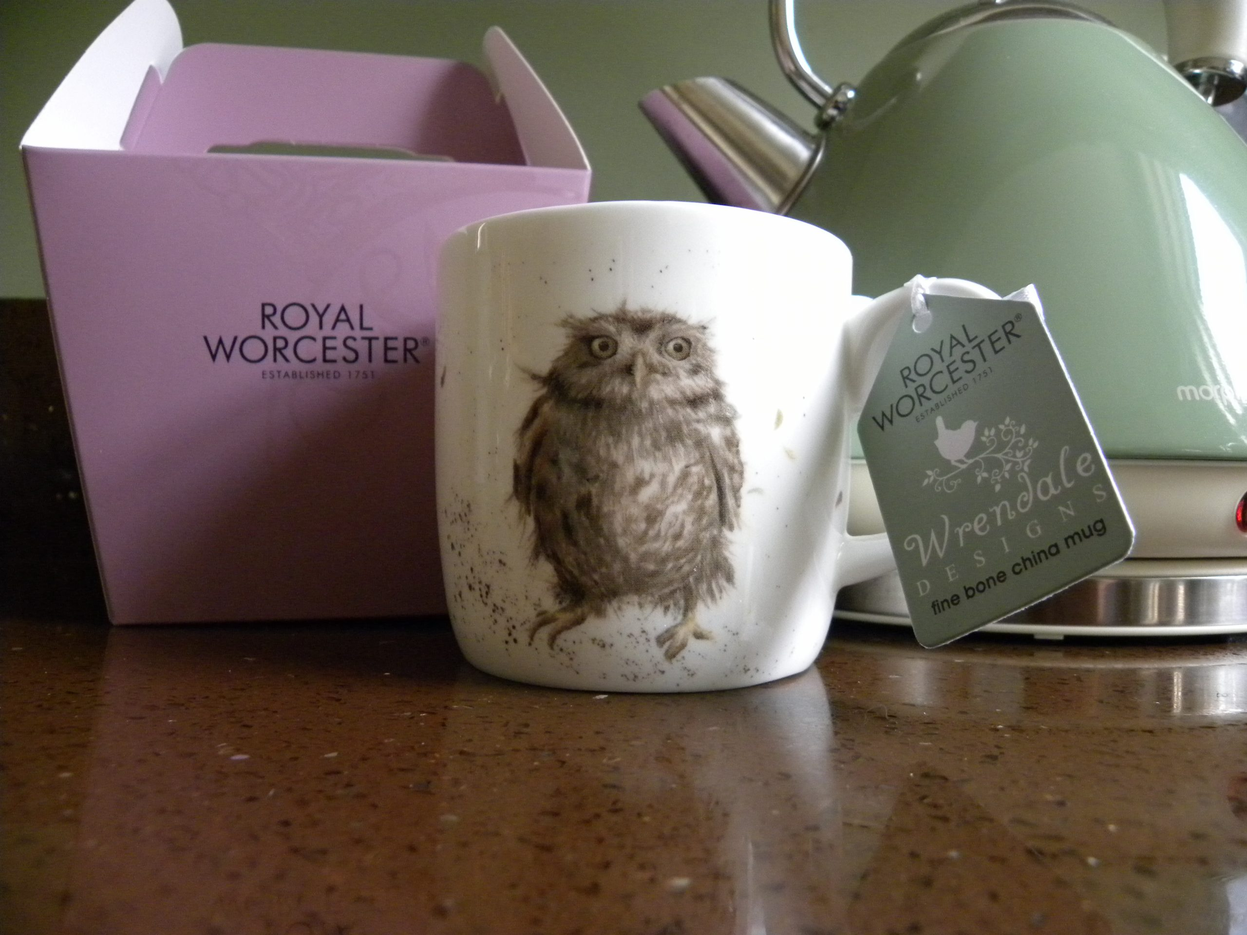 Royal Worcester - Wrendale - Bone China Mug - What a Hoot, Tawny Owl